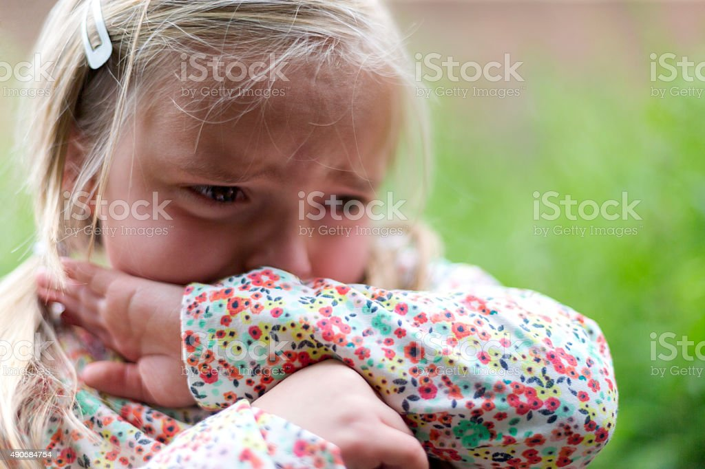 Don't look at me, I'm upset stock photo