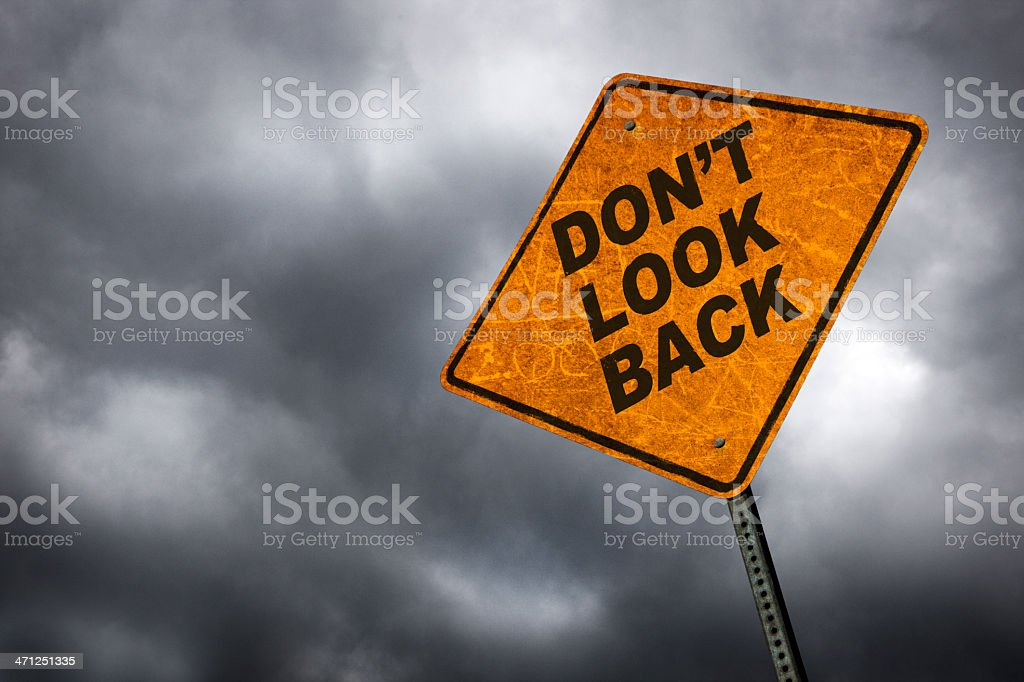 Don't Look Back royalty-free stock photo