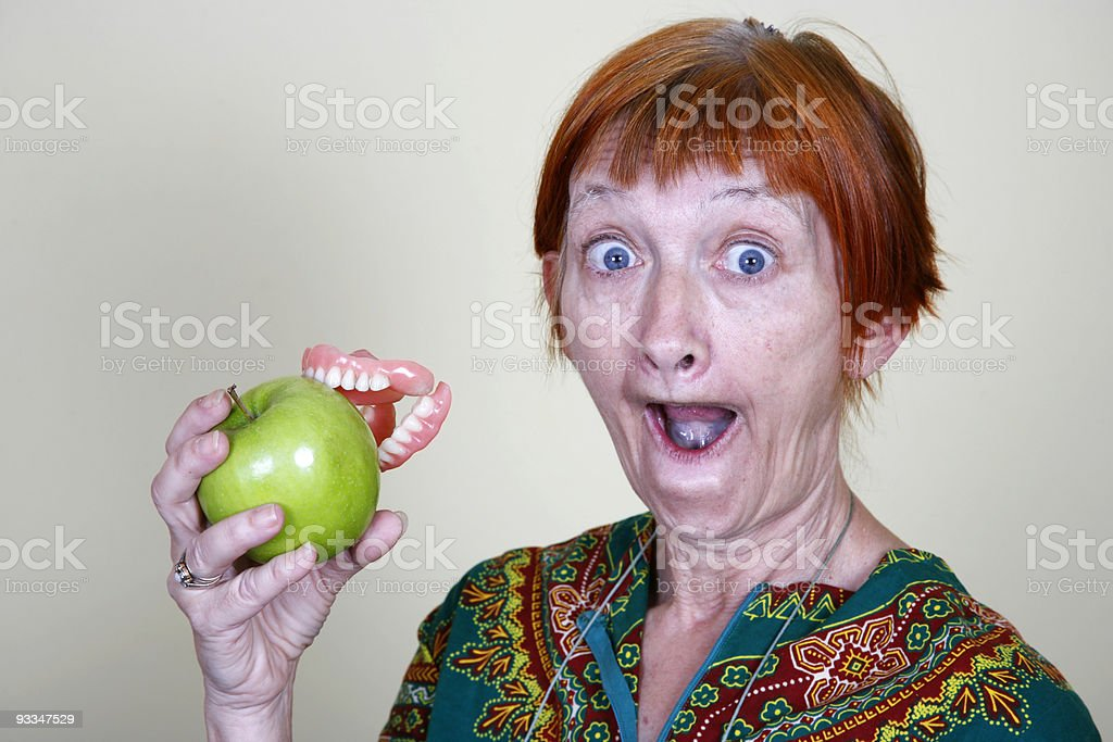 don't lose your false teeth stock photo