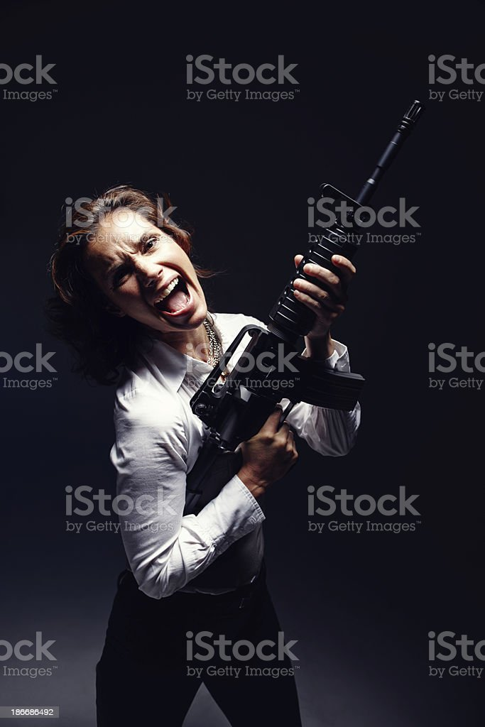 Don't mess with me royalty-free stock photo