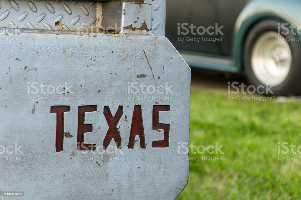 Don't Mess With Texas Metal Hard Edged Slogan stock photo