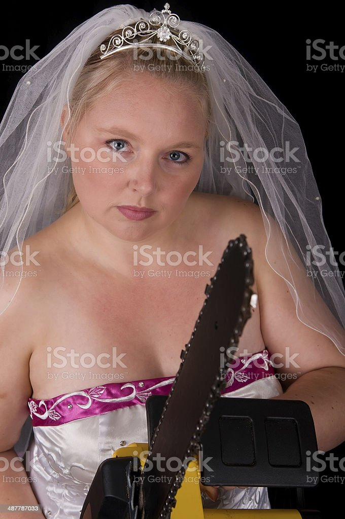Dont Mess With The Bride stock photo