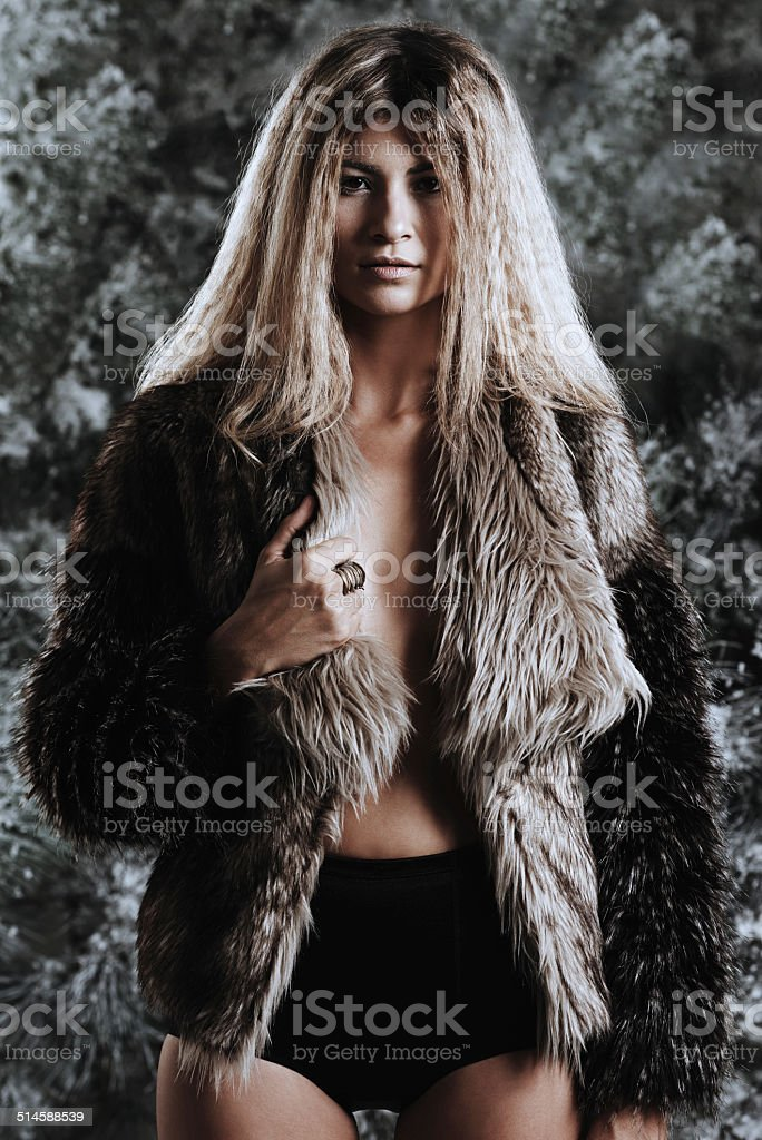 Don't mess with the wild side of beauty stock photo