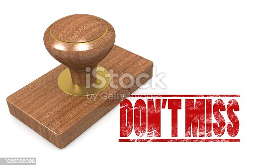 istock Dont miss wooded seal stamp 1056095096