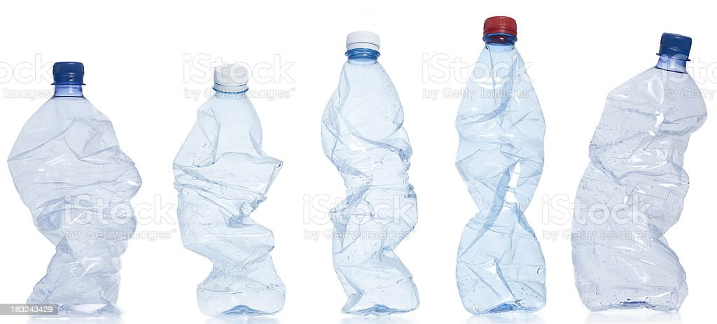 Don't mix plastic with other waste. stock photo