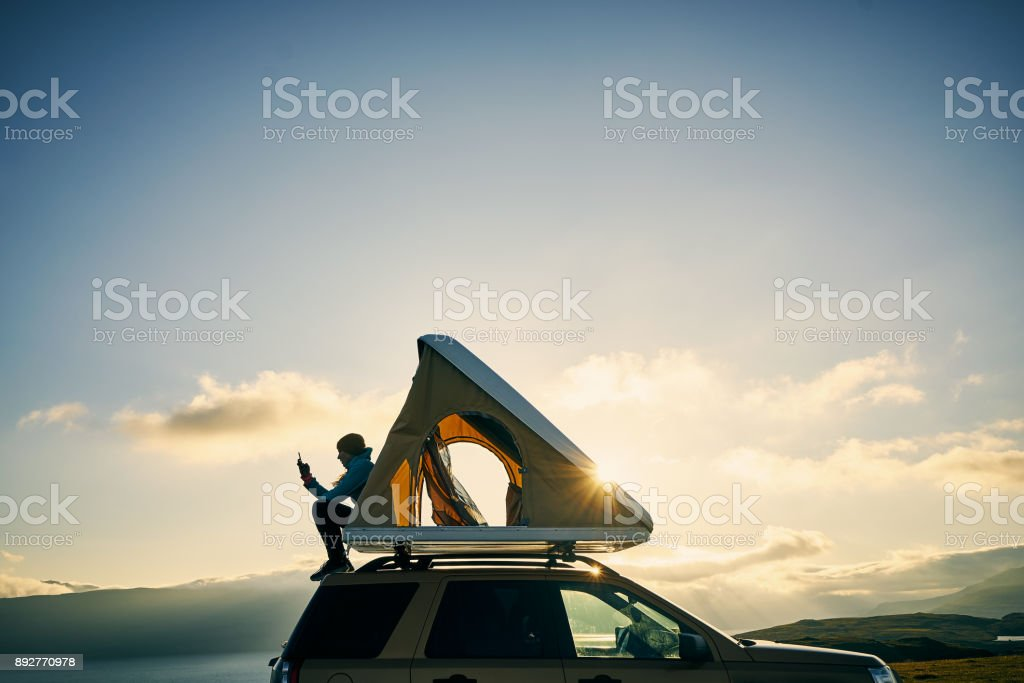 I don't need therapy, I just need camping stock photo