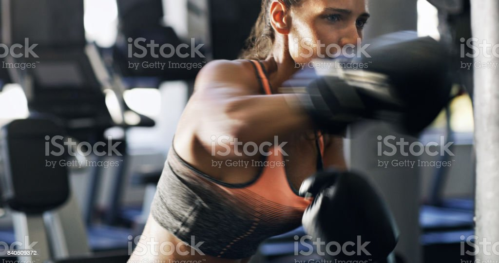 Don't pull your punches stock photo