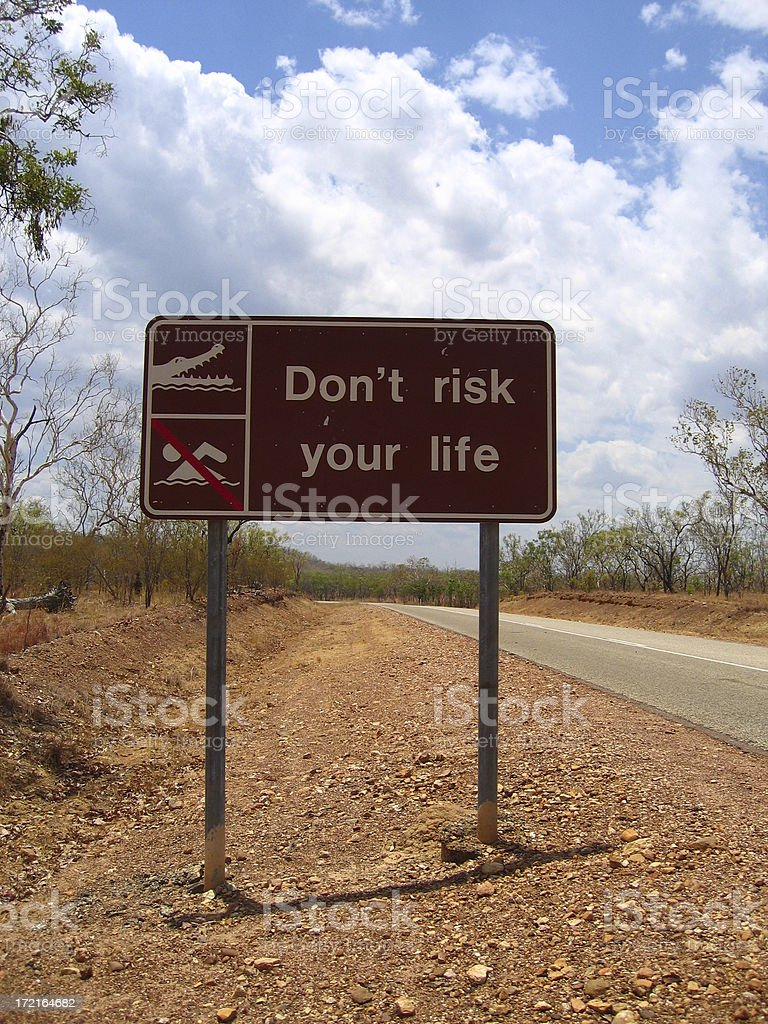 Don't Risk Your Life royalty-free stock photo