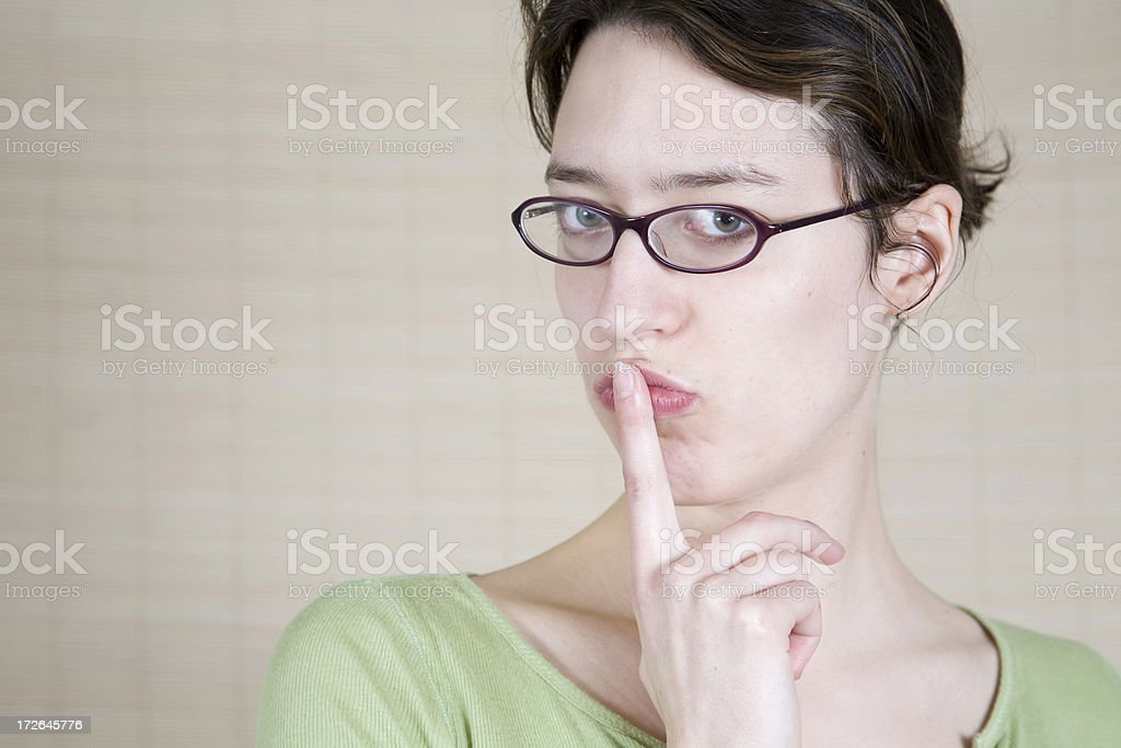 Don't Say a Word royalty-free stock photo