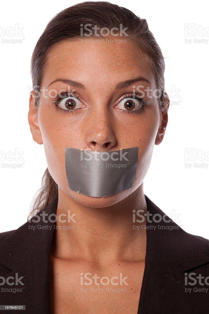 Don't speak! royalty-free stock photo
