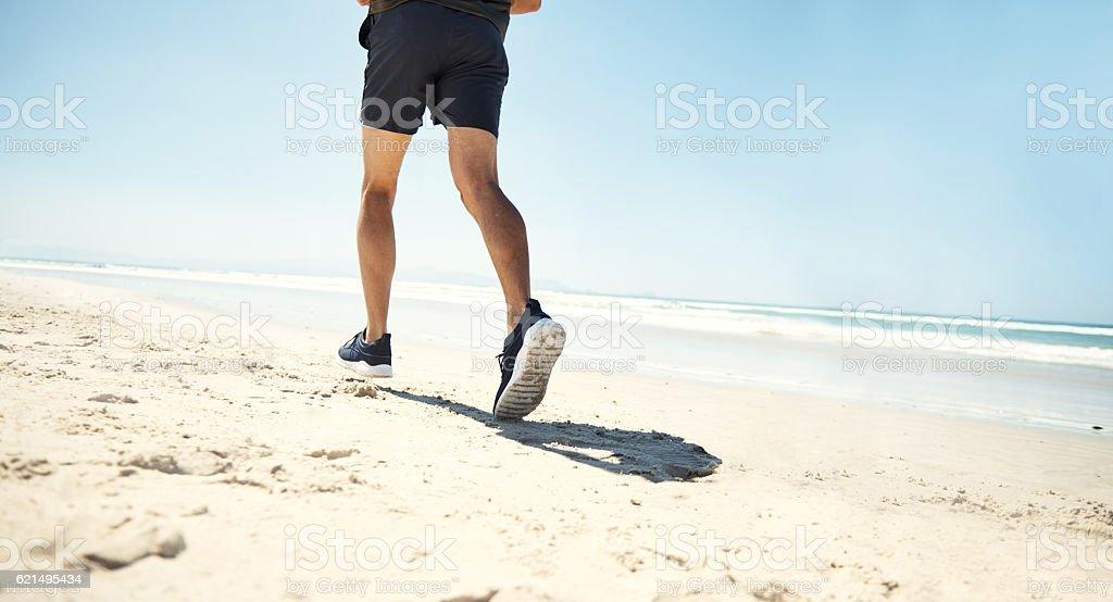 Don't stop until you've reached your goal photo libre de droits