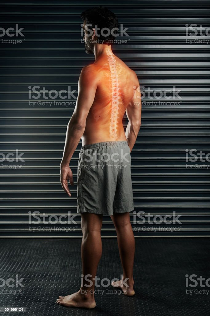 Don't succumb to back pain stock photo