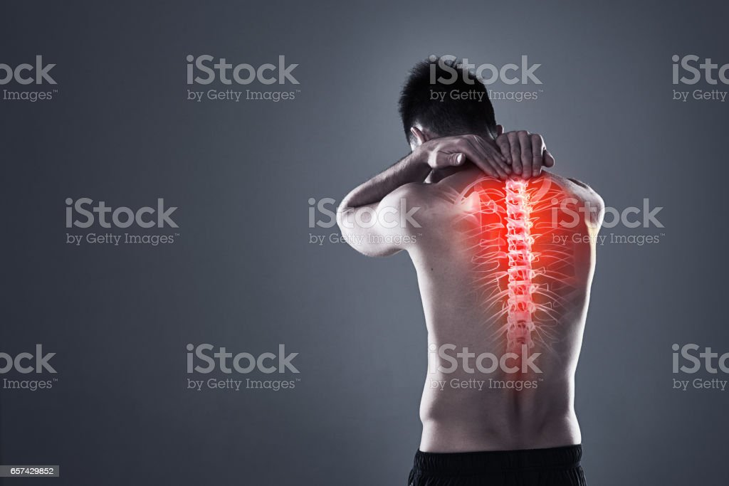 Don't take risks with a back injury stock photo