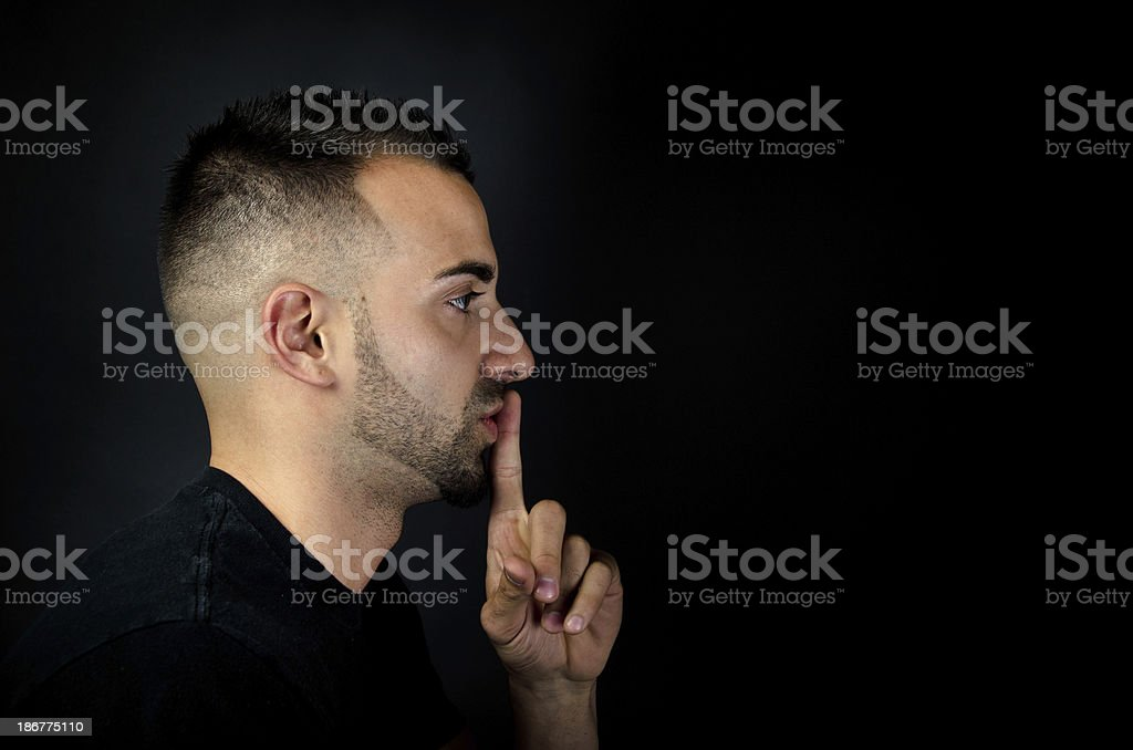 Don't tell anyone this secret royalty-free stock photo