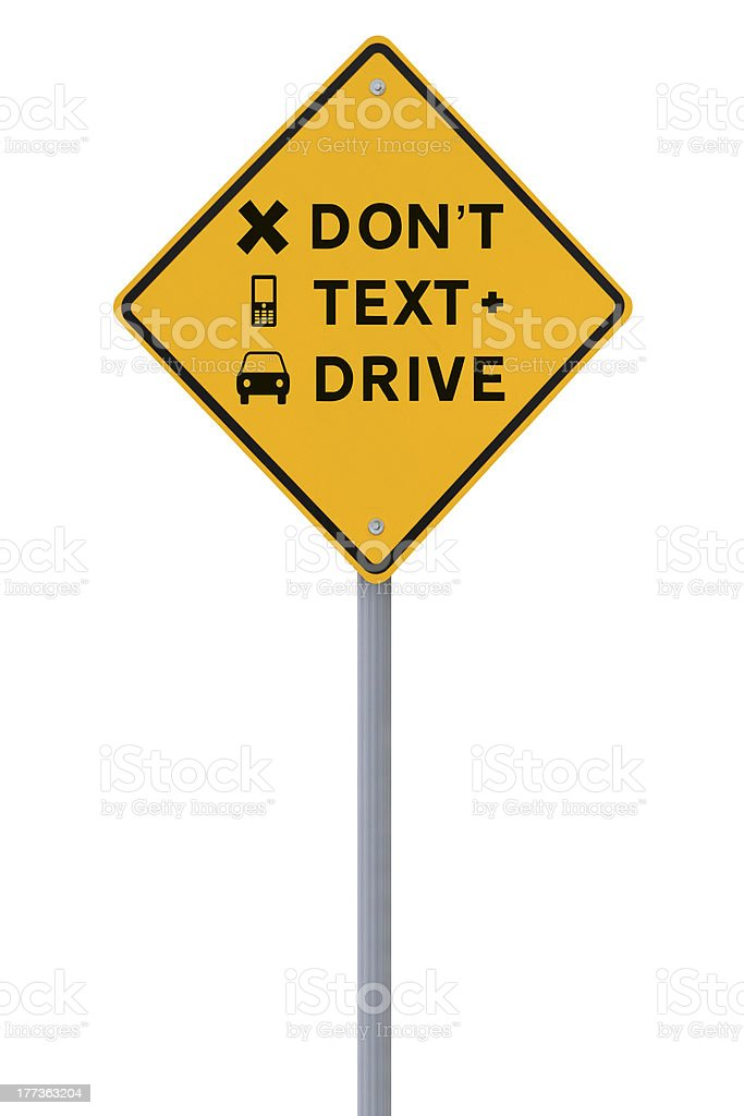 Don't Text & Drive! royalty-free stock photo