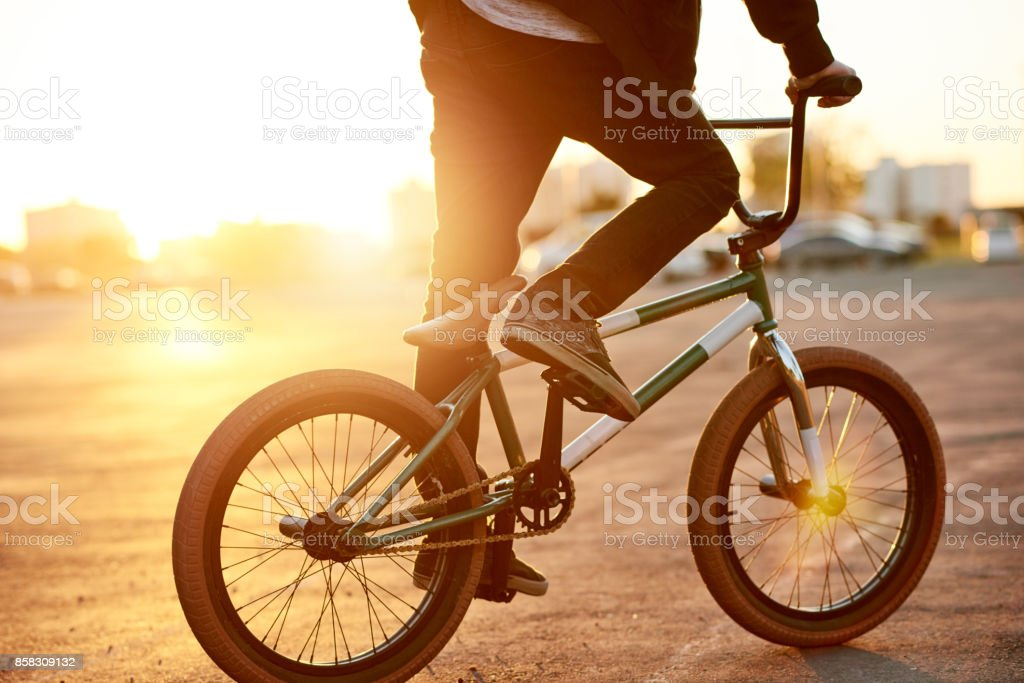 Don't think, just ride stock photo