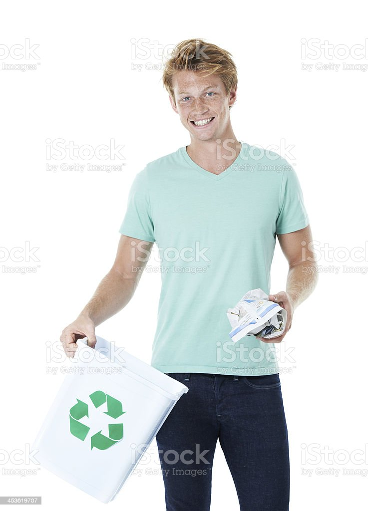 Don't trash our future. Recycle! royalty-free stock photo