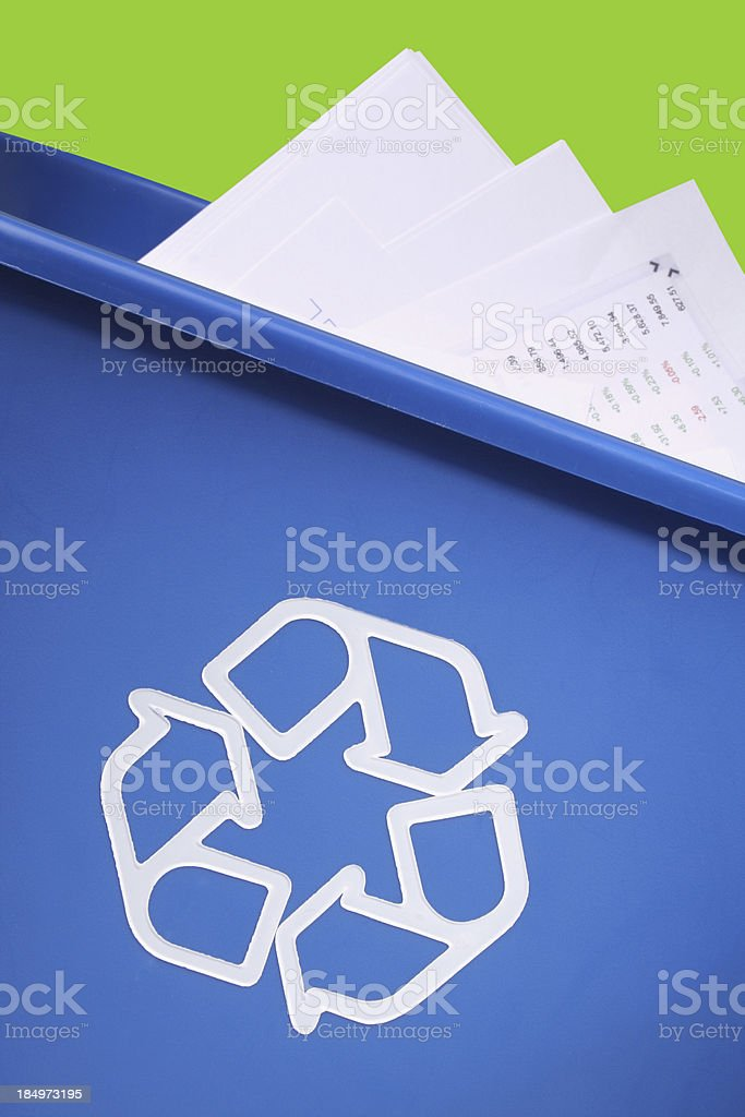 Don't trash paper, recycle! royalty-free stock photo