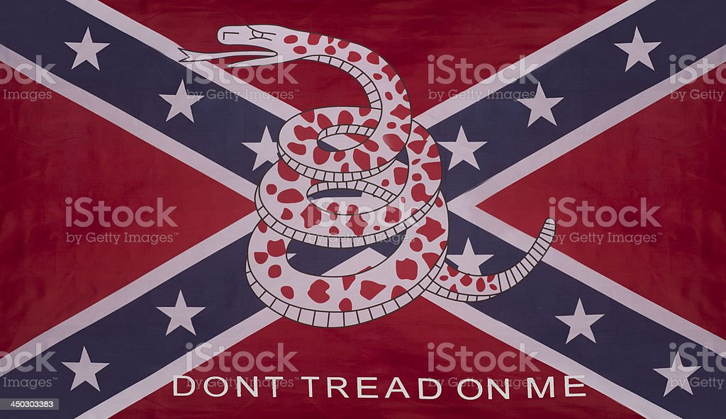 Don't tread on me Rebel Confederate Gadsden Flag stock photo