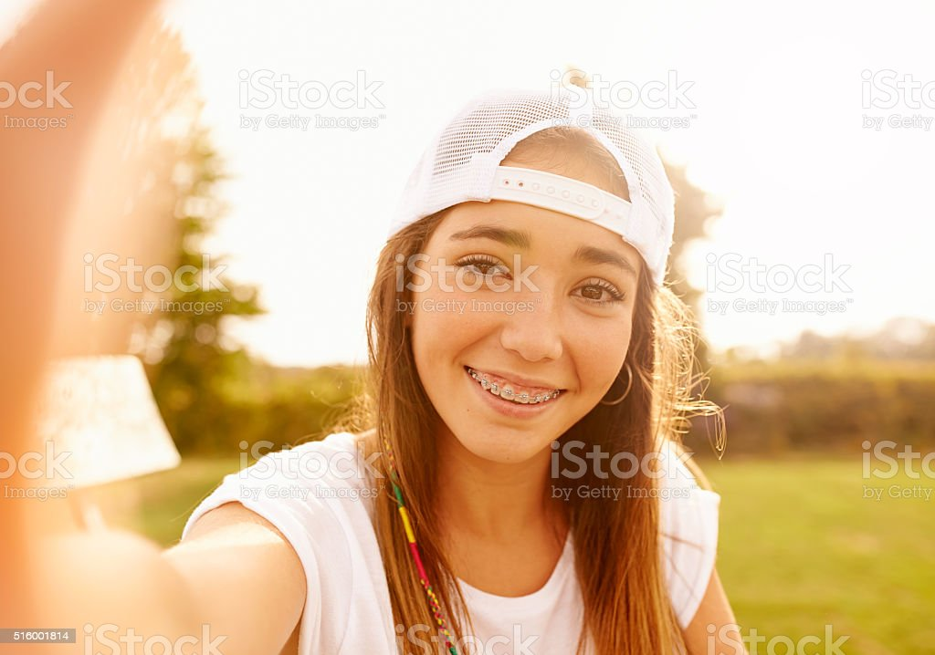Don't try to be anyone but yourSelfie stock photo