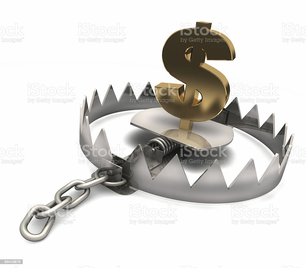 Don't try to catch the dollar! royalty-free stock photo