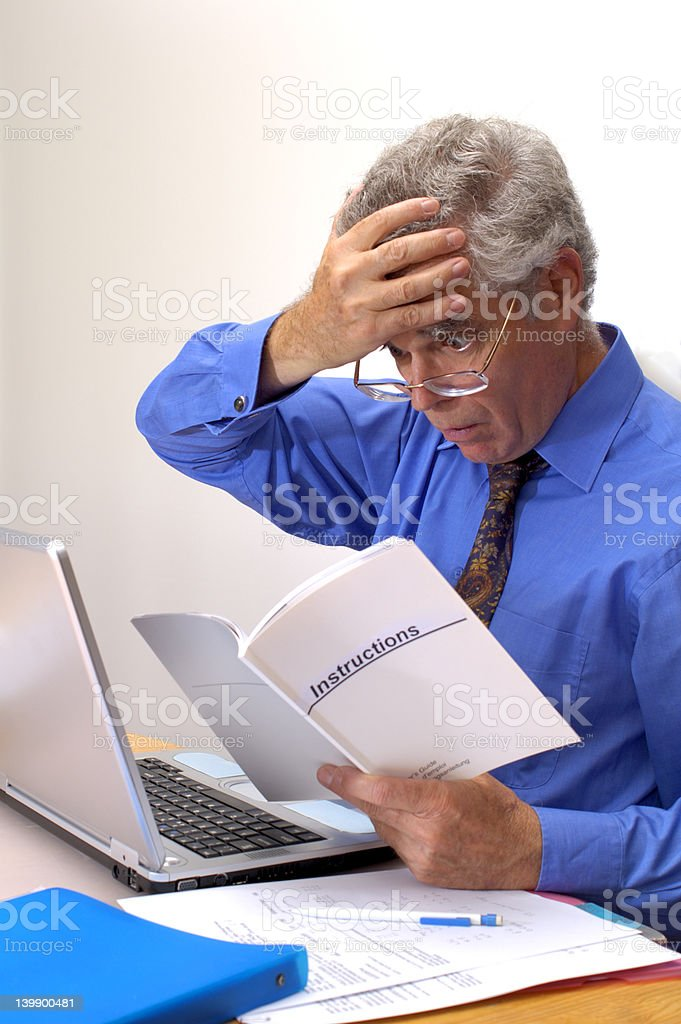 I don't understand this! stock photo