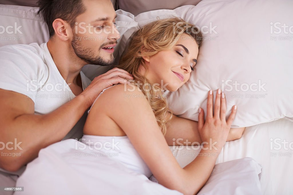 Don't wake me up, I'm dreaming stock photo
