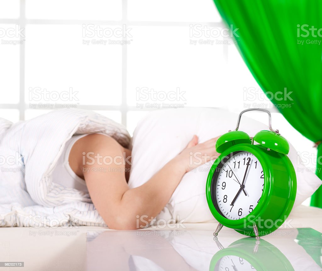 Non wake me up che presto foto stock royalty-free