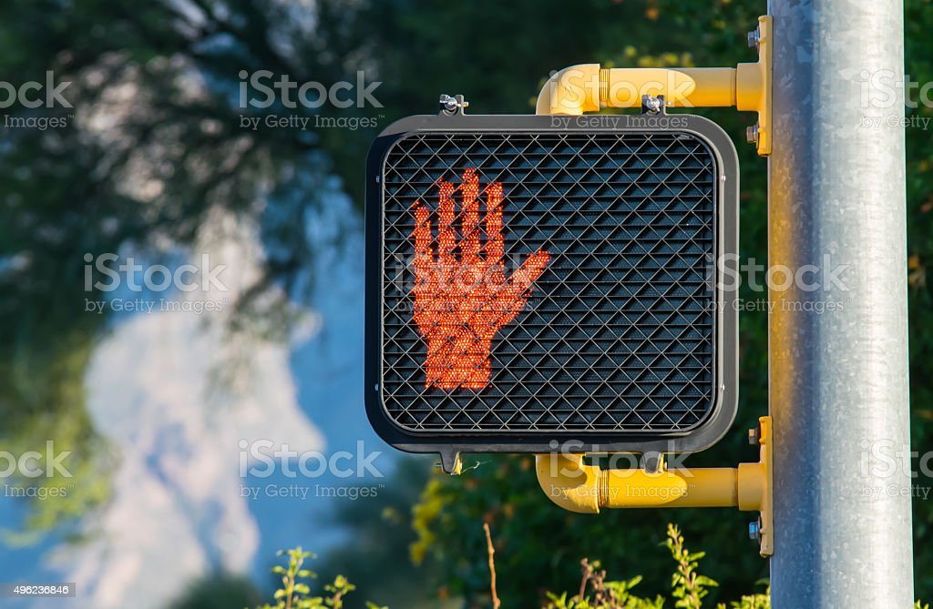 Don't Walk!  Crosswalk Sign. stock photo