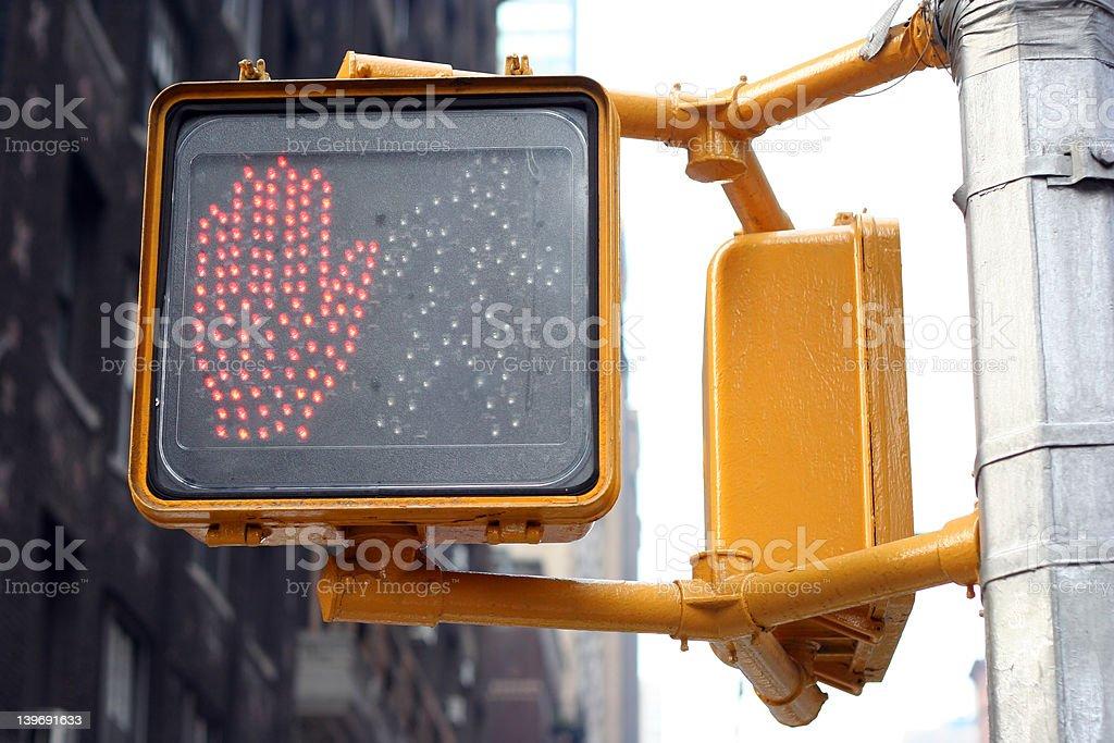 don't walk new york traffic light royalty-free stock photo