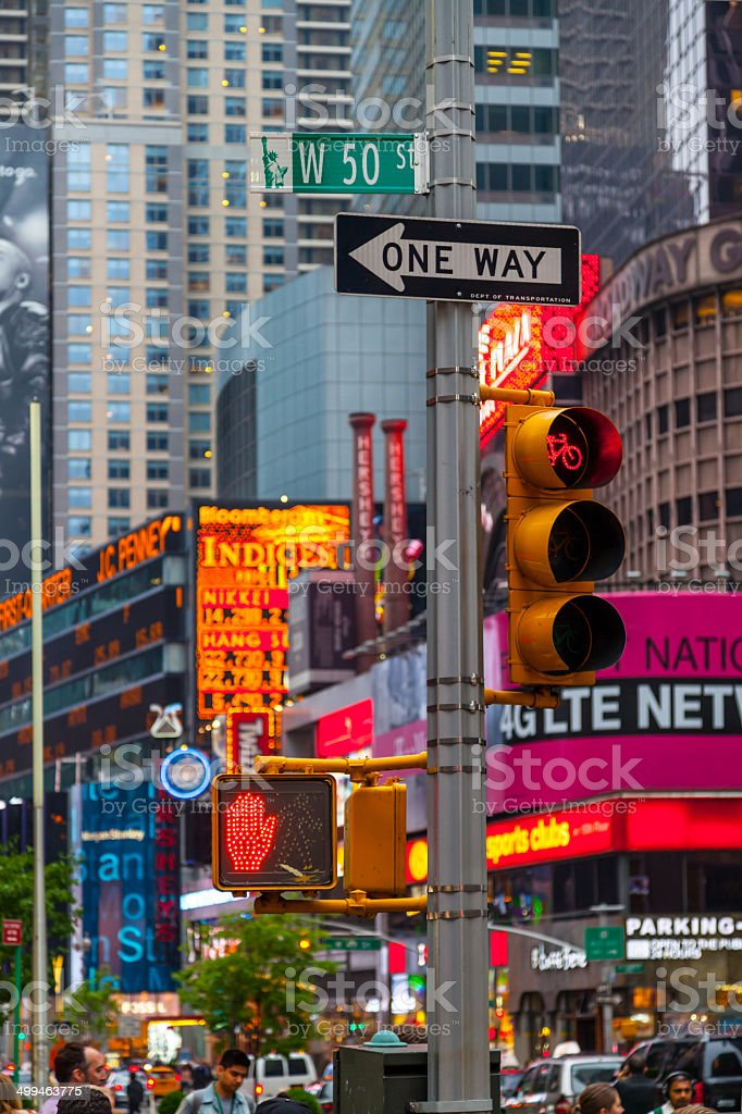 Don't walk New York traffic sign royalty-free stock photo