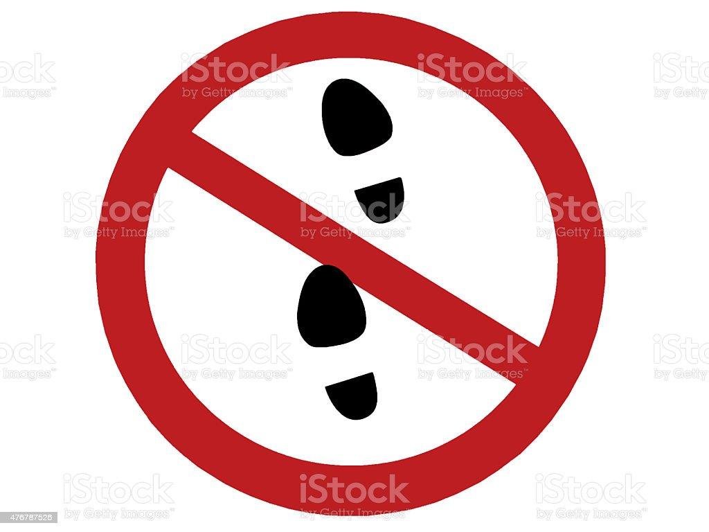 Don't walk sign stock photo