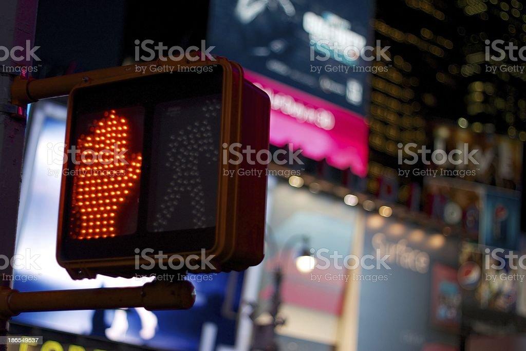 Don't Walk Signal, New York City stock photo