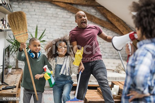 istock I don't want to see the glimpse of dust in the house! 921996804