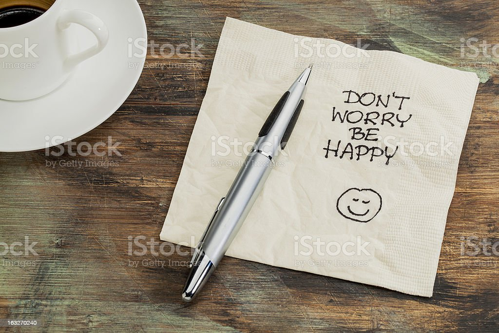 Don't worry be happy royalty-free stock photo