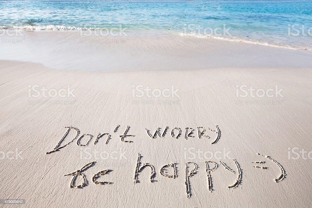Don't worry, be happy stock photo