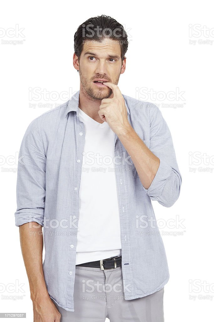 Don't worry, the answers out there... royalty-free stock photo