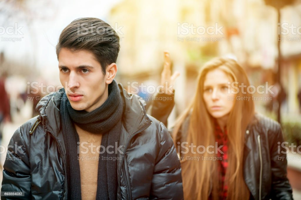 Don't you have ANYTHING to say?! stock photo