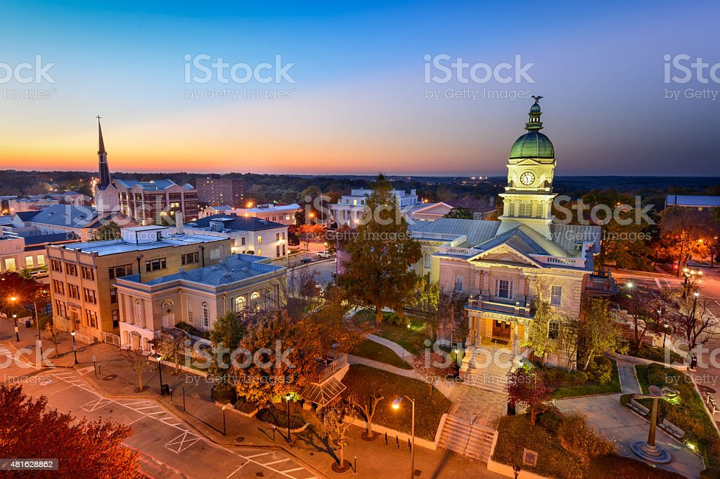 Dontown Athens Georgia stock photo