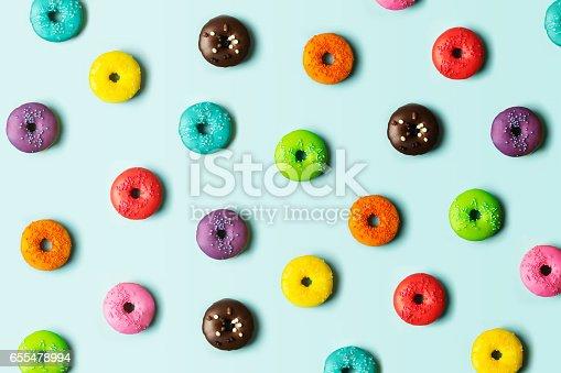 istock Donut background 655478994