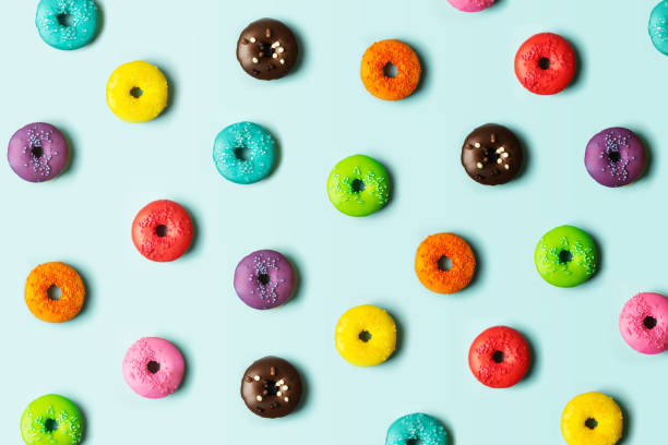 Donut background stock photo