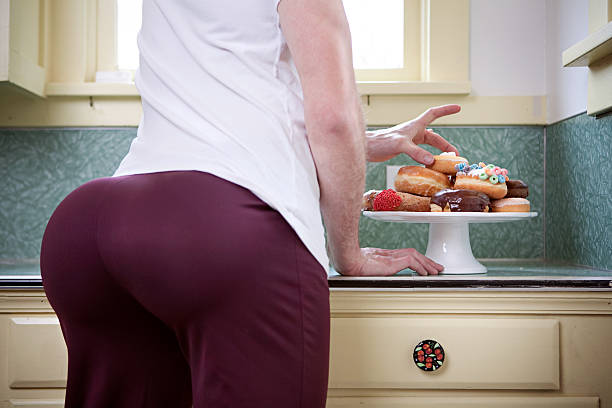 donut butt - buttock stock photos and pictures