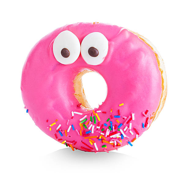 Donut close-up isolated on a white background stock photo