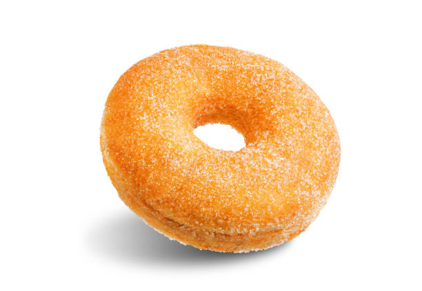 Donut on a white isolated background stock photo