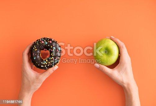 Healthy Eating, Unhealthy Eating, Apple - Fruit