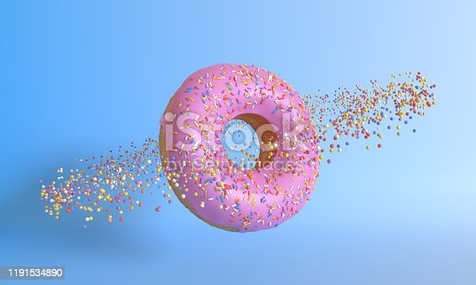 istock Donut planet on a pink background 1191534890