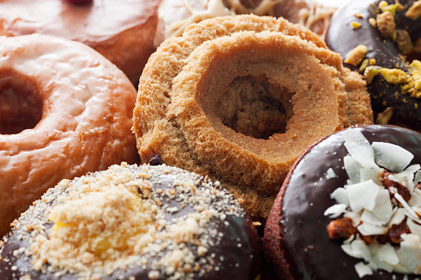 Donut variety made from scratch. stock photo