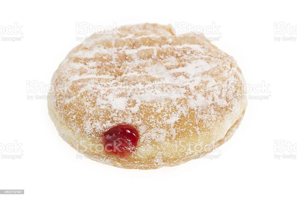 Donut with jam stock photo
