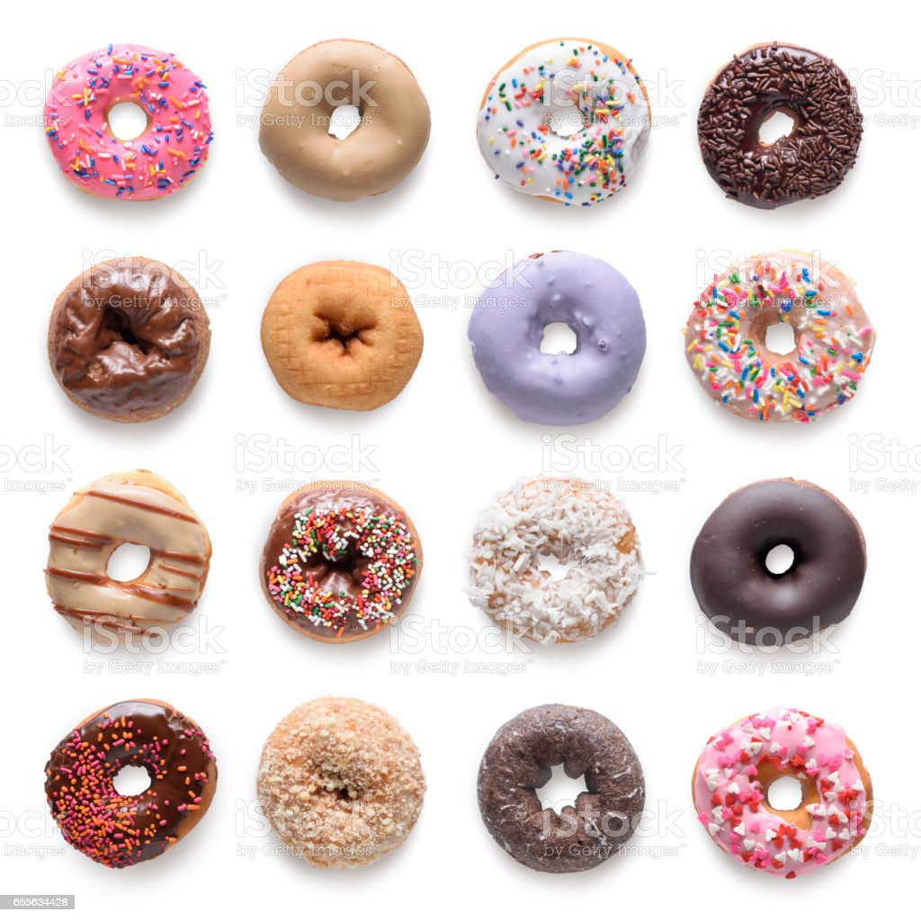 donuts collection stock photo