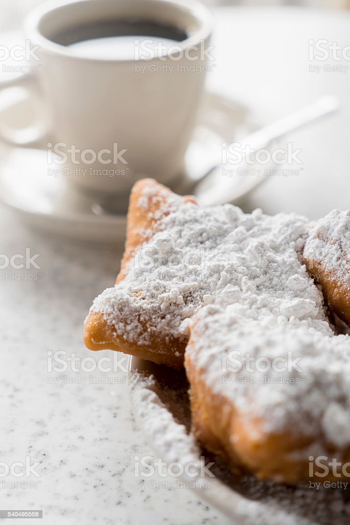 Beignets from Cafe Du Monde stock photo